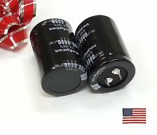 2 x 6800uF 6800mfd 100V Electrolytic Capacitor 105 degrees & USA FREE SHIPPING!