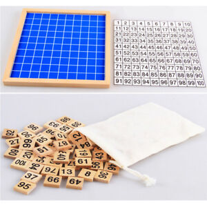 1 to 100 Consecutive Numbers Counting Toy Wooden Hundred Board Education MatY*AU