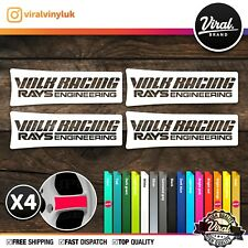4 X JDM Stickers Wheels Racing Volk Rays Decals, JDM ,TE37, Rota