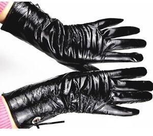 Genuine Leather Light Button Velvet Lining Gloves Warm Autumn And Winter Mittens