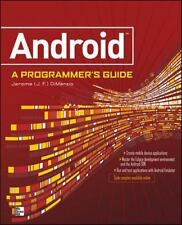 ANDROID A PROGRAMMERS GUIDE DiMarzio, J.F. VeryGood