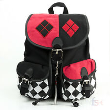 Harley Quinn Suicide Squad canvas Backpack Cosplay Comics School Bag  Knapsack