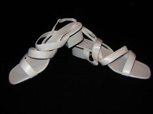 NEU! Damen Schuhe Gr 40 Leder Riemchen Sandaletten weiß Hochzeit Blumenmädchen