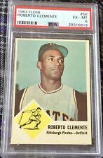 1963 Fleer #56 Roberto Clemente HOF - PSA 6 EX-MT - Centered & Sharp Corners!!