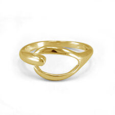 silver Fashion clutch Toe Adjustable Ring Women's 14k Yellow Gold Finish 925