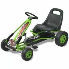 vidaXL Pedal Go Kart with Adjustable Seat Green Children Racing Cart Vehicle