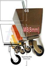 4x SOLID WOOD ANTIQUE CASTOR FURNITURE SETTEE LEGS M8(8mm) SOFA FEET 125mm HIGH