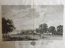 1781 Antique Print; Quarr Abbey, Isle of Wight after Richard Godfrey