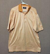 Callaway Golf Shirt Men's Short Sleeve Polo Orange 100% Cotton