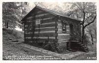 Kentucky Ky RPPC Postcard c1950 BARDSTOWN Law Office Log Cabin JOHN ROWAN