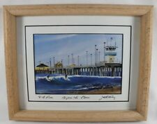 Jack Parry BEFORE THE STORM Huntington Beach Pier, CA Framed Art Print Signed