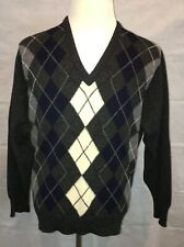 Vintage BROOKS BROTHERS Men's LambsWool V-Neck Sweater Argyle Size Large