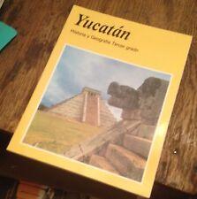YUCATAN Historia y Geografia TERCER GRADO SPANISH Free US Shipping MEXICO