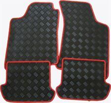 Für Alfa Brera Bj. ab 1.06 Gummi-Fußmatten schwarz mit roter Kettelung