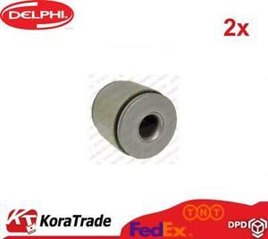 2x DELPHI TD833W UPPER FRONT CONTROL ARM TRAILING ARM BUSH X2 PCS