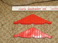 1977 Playskool LINCOLN LOGS Scout Set - 2 Plastic Red Roof Supports!