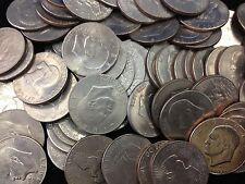100 $1 Eisenhower US Dollar Ike Lot 1971-78 w/ 1976 5 Rolls Circ-Unc