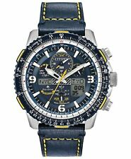 Citizen Eco-Drive JY8078-01L Blue Angels Skyhawk Chronograph 46mm Leather Watch
