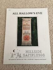 ALL HALLOW'S EVE Cross-Stich Banner Pattern, Hillside Samplings 1993 Halloween
