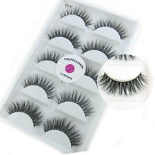 10Pairs 100% Real Mink 3D Messy Cross Natural False Eyelashes Eye Lashes A15
