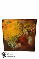 Original Abstract Oil On Canvas Painting Heaven And Earth By Patricia Schear