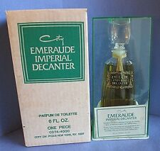 Coty Emeraude Imperial Decanter 1960's Parfum de Toilette 6 oz Vintage in Box