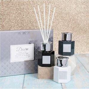 Desire Set of 3 Home Fragrance Fresh Linen Pomegranate Noir Reed Diffuser Gift