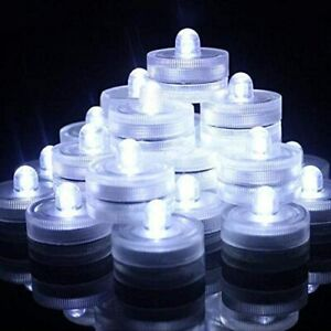 White LED Submersible Tea lights 36 Count For Weddings Centerpieces Decor New