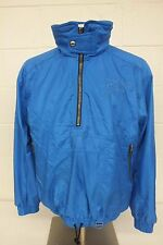 Vintage Descente Sport Shiny Blue Pullover Shell Jacket Men's Size Medium GREAT