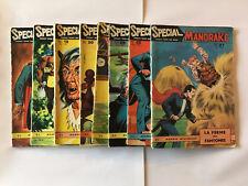 LOT DE 8 BD SPECIAL MANDRAKE 1963 1966 MONDES MYSTERIEUX