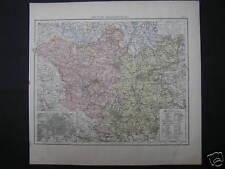 Alte Landkarte map Brandenburg Berlin Frankfurt um 1880