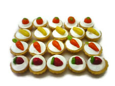 20 Loose Cupcake  Mix Fruit  Top Dollhouse Miniatures Bakery Food Deco