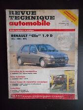 Revue technique automobile n°534 12/1991 Renault Clio 1.9 D ( RL - RN - RT)
