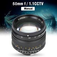 7artisans 50mm F1.1 Leica M Mount Fixed Lens for Leica M-Mount Cameras Black