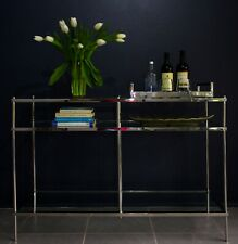 Zarin Stainless Steel Console With Multilevel Tempered Glass (SPECIAL OFFER)