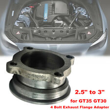 """2.5"""" to 3"""" Stainless Steel V-Band Turbo Downpipe 4 Bolt Exhaust Flange Adapter"""