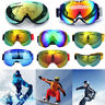 UV Double-Lens Frameless Professional Snowboard Snowmobile Ski Goggles Anti Fog