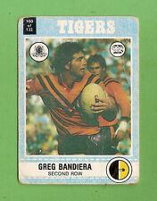 1977 BALMAIN TIGERS  SCANLENS RUGBY LEAGUE CARD  #100 GREG BANDIERA
