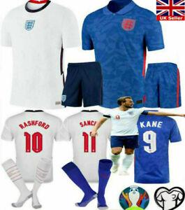 UK-Newest England Home Away Football Kit Boys Adult Soccer Jersey Custom Shirt +