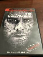 The Number 23 (DVD, 2007, Unrated  Theatrical Versions)