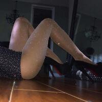 Women's Sexy Crystal Rhinestone Fishnet Elastic Stockings Net Tights Pantyhose