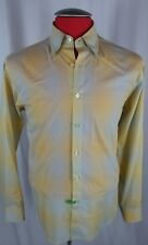 Equilibrio Italia Shirt Yellow and Blue Checks Medium 100% Cotton Italy
