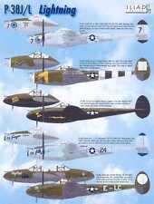 Iliad Decals 1/72 LOCKHEED P-38J P-38L LIGHTNING Fighters