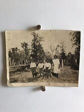 Americana African American Country Kids Siblings Photo Black White 1920s W28