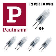 5 Stück G4 Paulmann 10 Watt 12V Stiftsockel Leuchtmittel Lampen Halogen klar NEU