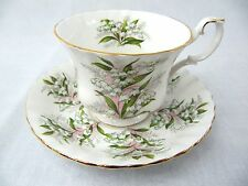 ROYAL ALBERT - SPRINGTIME SERIES - LILY OF THE VALLEY CUP AND SAUCER