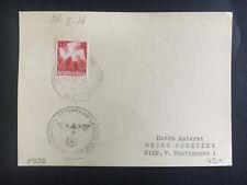 1936 Germany Kriegsmarine Navy Postcard Cover Cruiser Deutschland to Vienna