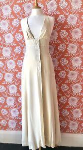 Vintage 70's Ossie Clark for Radley moss crepe dress. Boho /hippy/ wedding dress