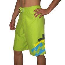 NEW BILLABONG BORDERLINE BOARDSHORTS LIME GREEN X SMALL WAIST 28 RRP £55.00