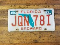Vintage LICENSE PLATE Florida JQN 78I Antique Car Tags Plates RETRO MAN CAVE☆USA